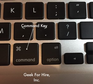 Command Key | Geek For Hire, Inc. |