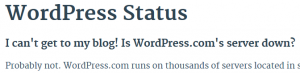 Application down - WordPress 1 cropped