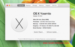 Operating System - Mac OSx