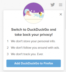 DuckDuckGo helps protect your online privacy