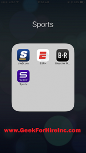 Sports smartphone app's