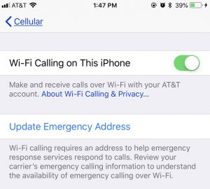 WiFi Calling - setting up on your iphone
