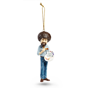 Black friday - bob ross ornament