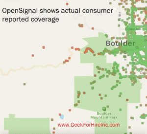 Cell Coverage from OpenSignal