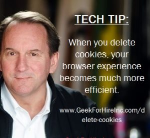 benefit to delete cookies