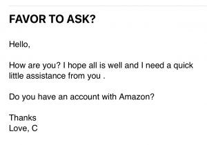 example - favor to ask - Amazon