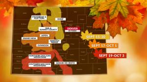 Fall foliage map from KDVR.com